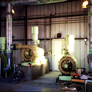 Blower Room with Multistage Centrifugal Blowers